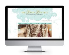 The Ditzy Duchess website design, by The Savvy Socialista.