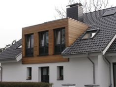 Result for image for flat roof gaube - breda petrovic - . Renovation Facade, Bungalow Renovation, Attic Renovation, Dormer Roof, Dormer Windows, Loft Conversion Roof, Roof Cladding, Dormer Bungalow, Flat Roof House