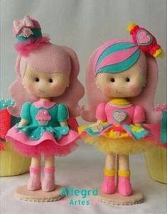 Molde de boneca de feltro - Ver e Fazer