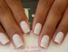 Whiter tips on white polish white nails, white french nails, french toes,. Neutral Nails, Nude Nails, Manicure And Pedicure, White Nails, White Polish, Pedicure Ideas, Pedicure Summer, Summer Nails, White French Nails
