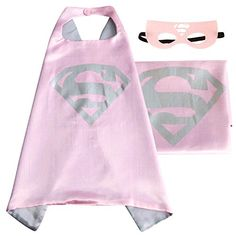 (Supergirl) ROXX Superhero Superman Kids Girl And Boy Cape and Mask Costume for Child - http://our-shopping-store.com