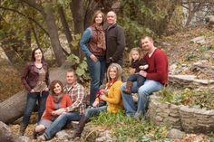 Fall Family Pictures - mom dad and dylan, me tony and kids chris sarah and addie Extended Family Pictures, Big Family Photos, Large Family Poses, Outdoor Family Photos, Fall Family Pictures, Family Picture Poses, Family Picture Outfits, Family Photo Sessions, Picture Ideas