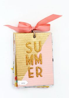 diy summer photo album