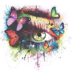 Patrice Murciano, Fabulous Pop Art painting Source by Murciano Art, Patrice Murciano, Tableau Pop Art, Eyes Artwork, Poetry Art, Eye Painting, Butterfly Art, Butterflies, Eye Art