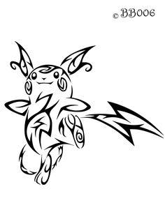#026: Tribal Raichu by blackbutterfly006.deviantart.com on @deviantART