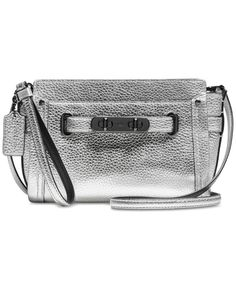 COACH Swagger Wristlet in Pebble Leather Handbags   Accessories - Macy s e3d172a26ec9e