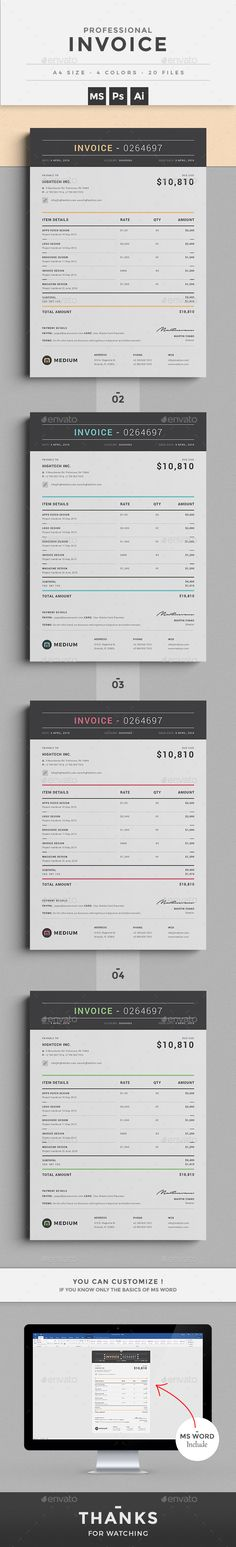Invoice - how to design an invoice