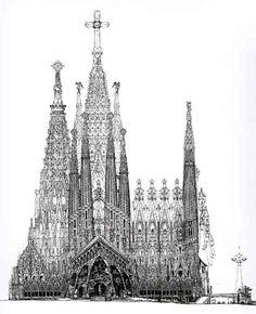 Sagrada Familia / Others Materials / Passion's façade drawing