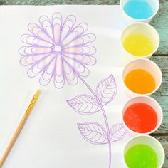 How to make your own taste safe Jelly Bean Watercolours - a fabulous sensory art activity. This is a brilliant science and art activity for children. Sensory Art, Sensory Activities, Craft Activities For Kids, Projects For Kids, Crafts For Kids, Arts And Crafts, Art Projects, Free Adult Coloring Pages, Colouring Pages