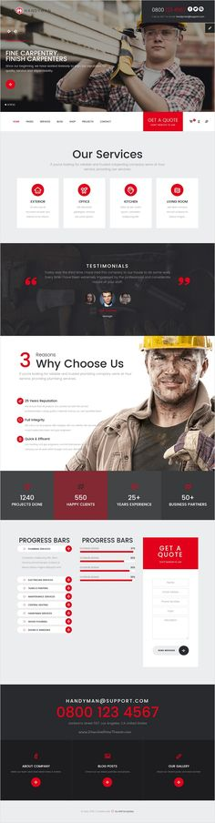 Mr. Handyman is beautifully design #Bootstrap template for #construction,  maintenance and repair works multipurpose website with 5 unique homepage layouts download now➩ https://themeforest.net/item/mrhandyman-plumber-carpenter-roofing-renovation-html-template-/17301383?ref=Datasata