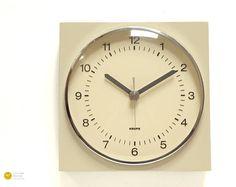 1967s KRUPS BAUHAUS Wall Kitchen Clock Grey Germany Panton