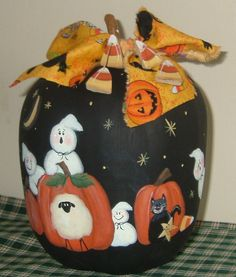 Halloween Gourd Painting Party