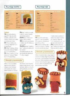 Pesebre Amigurumi patron 5 Crochet Ornaments, Christmas Crochet Patterns, Holiday Crochet, Christmas Nativity Scene, Christmas Crafts, Christmas Ornaments, Xmas, Crochet Doll Pattern, Crochet Dolls