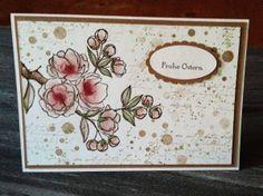 Wunderschöne Osterkarte von Susanne Kalisch mit dem  Stampin' Up!® Stempelset: Frohe Osterbotschaft