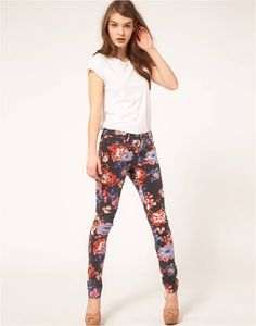 Floral Print pants from Asos.com
