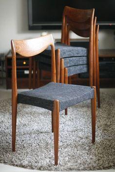 (1) FINN – Rastad og Relling Bambi stoler 1959 Dining Chairs, Dining Room, Mid Century Chair, Bambi, Scandinavian Design, Teak, Interior Design, Retro, Architecture