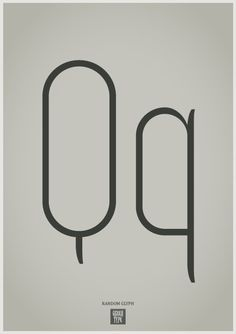 Random glyph. Zoo 300 Thin. Q.