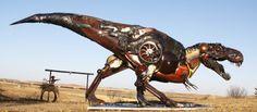 """古い農機具やスクラップを使って作られる""""スチームパンク彫刻""""がハンパない!"""