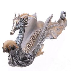 Shimmering Celtic Fantasy Dragon Ashcatcher Our fantasy and gothic dragon range are great entry level collectors items as they are well designed and