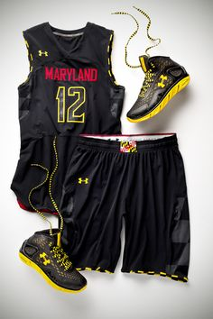 "A sneak peak into one of the Men's Basketball Uniforms for the upcoming season Called ""The Black Ops"""
