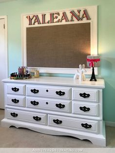 DIY Framed Personalized Fabric-Covered Bulletin Board