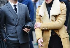 Austin Wong Balmain Shearling Gabriel Zeller Black Fleece What I wore during Paris and Milan Fashion Week   Fall/Winter 2013