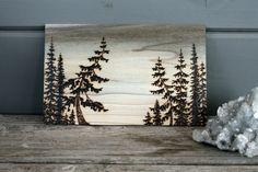 Tree Dancers Wood burning Art Landscape by TwigsandBlossoms