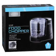 Living Solutions 3 Cup Food Chopper Another Walgreens in-store brand item. Works great! I make chili constantly but I hate dicing all the ingredients. This takes on peppers, onions, whole garlic cloves with no problem. At $15 it's about $35 cheaper than its nearest counterpart.
