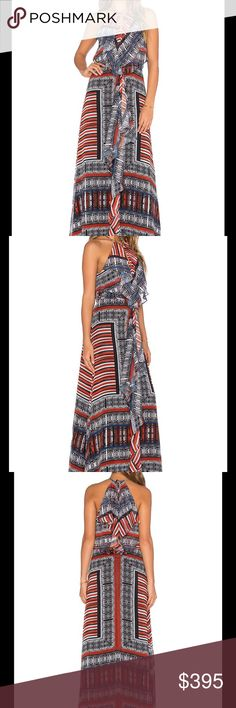 The Bohemian Maxi Dress Cynthia Vincent quickly established herself in the fashion world with a unique style thats all her own. Designs are feminine without being overly precious and cute, sexy without losing girlish charm and occasionally take playful jaunts into the bohemian.   Poly blend Dry clean only Fully lined Neckline keyhole Draped bodice overlay Back cut-out with tie and zipper closure Due to the design of the product, print may vary slightly Shoulder seam to hem measures approx…