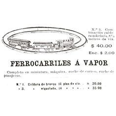 Ferrocarriles a vapor #argentina #buenosaires #1900 #vintage #ads
