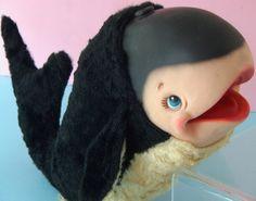 RARE Vintage RUSHTON STAR CREATION Rubber Face Rayon Plush CUTE Baby Orca Whale   eBay