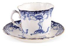 Antique Porcelain Teacup & Saucer IV