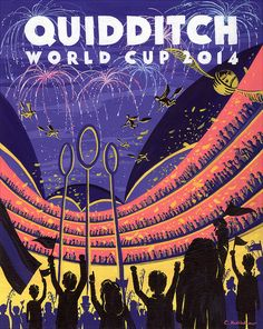 Sports fan? Be sure to check out the Quidditch World Cup. | 19 Gorgeous Retro Travel Posters To Fantasy Destinations
