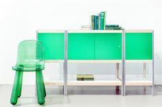 Flessengroene kleur 'jade' ontwerp van Rienke Bos #kewlox #green #interior #groen Multimedia, Interior, Furniture, Jade, Home Decor, Brussels, Decoration Home, Indoor, Room Decor