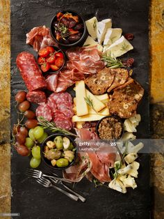 Stock Photo : Charcuterie Board Deli Counter, Homemade Crackers, Yogurt Breakfast, Dried Mangoes, Dairy Free Diet, Meat And Cheese, Artisan Bread, Charcuterie Board, Fresh Herbs