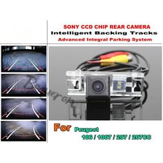 54.20$  Buy here  - For Peugeot 106 / 1007 / 207 / 207CC Intelligent Car Parking Camera / with Tracks Module Rear Camera CCD Night Vision
