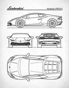 Lamborghini – One Stop Classic Car News & Tips Lamborghini Huracan, Ferrari, Car Design Sketch, Car Sketch, Mc Laren, Car Drawings, Patent Prints, Sport Cars, Ford Gt