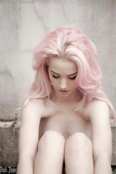 #pale #pastel #colored #hair #dyed #pink #female #fair #complexion #beautiful #girl #unnatural #colors #awesome