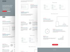 Wireframe for a landing page