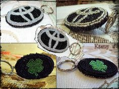 "Брелок ""Тойота и клевер"" Toyota, Crochet Earrings, Jewelry, Fashion, Moda, Jewlery, Bijoux, Fashion Styles, Schmuck"