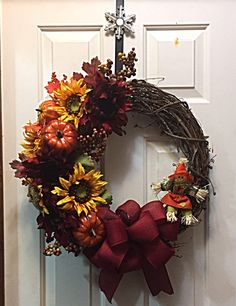 A personal favorite from my Etsy shop https://www.etsy.com/listing/526824240/fall-wreath-front-door-decor-home-decor