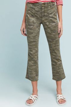 Slide View: 5: Cropped Utility Flare Pants
