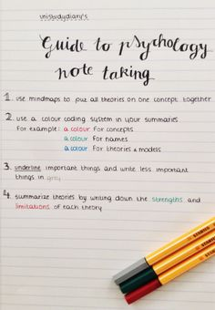 I always find it useful when people share their note taking tips, so here are mine! I thought it would be handy to do it for my study specifically, maybe i'll share a more general guide later. Feel free to add more tips if you want! Psychology Notes, Psychology Studies, Psychology Major, Psychology Revision, Educational Psychology, Life Hacks For School, School Study Tips, School Tips, College Study Tips