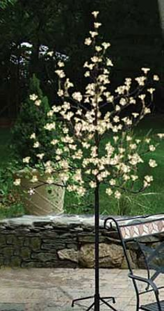 Check out the deal on Warm White LED Cherry Tree 204 Acrylic Flowers - In/Outdoors 6 Feet at Battery Operated Candles