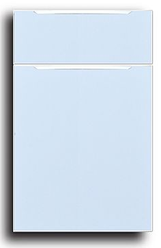 Sea Blue High Gloss Thermofoil Kitchen Cabinets | Modern Kitchen Cabinets