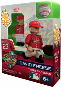 OYO Baseball MLB Building Brick Minifigure SPRING TRAINING David Freese [Saint Louis Cardinals] by OYO. $10.96. New! Officially licensed building-toy figures of your favorite MLB player with rotating arms, bending knees, and player likeliness. Comes with bat, gripping ball,glove,stand,and unique OYO DNA number. Compatible with most other brand name building toys. Collect. Build. Play. Collect your favorite players. It's like a 3-D baseball card! OYOs are designe...