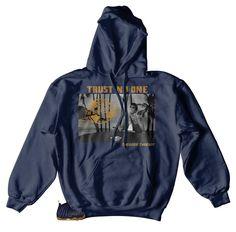 042342ab5bed Foamposite Navy Hoody - Tony Knows - Navy