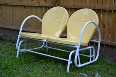 retro outdoor gliders | ... through the patio furniture department and spotted this retro glider
