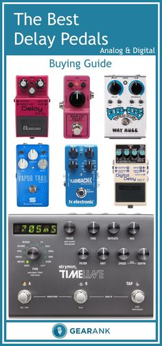 Detailed guide to the Best Analog & Digital Delay Pedals. Along with a list of recommended highly rated delay pedals, this guide includes advice on topics such as Analog Vs. Digital Delay, Delay Time and Feedback, Pros and Cons of True Bypass, Differences Between Delay, Echo, and Reverb, and Delay's Place In Your Signal Chain.