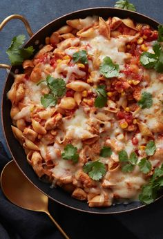 Chicken Enchilada Pasta Bake from www.whatsgabycooking.com it's the easiest weeknight meal ever!! (@whatsgabycookin)